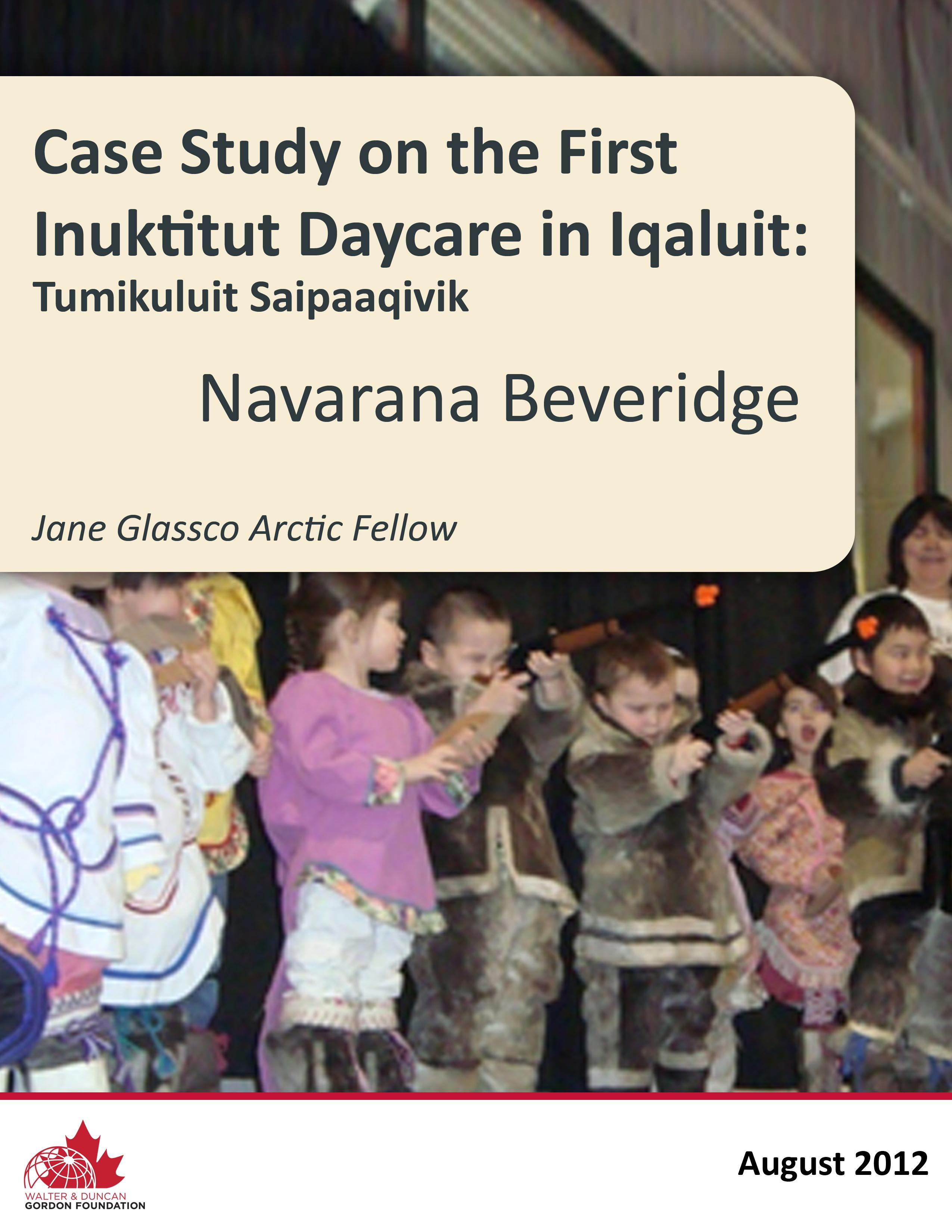 JGNF_2012_Navarana_FirstInuktitutDaycare_COVERONLY