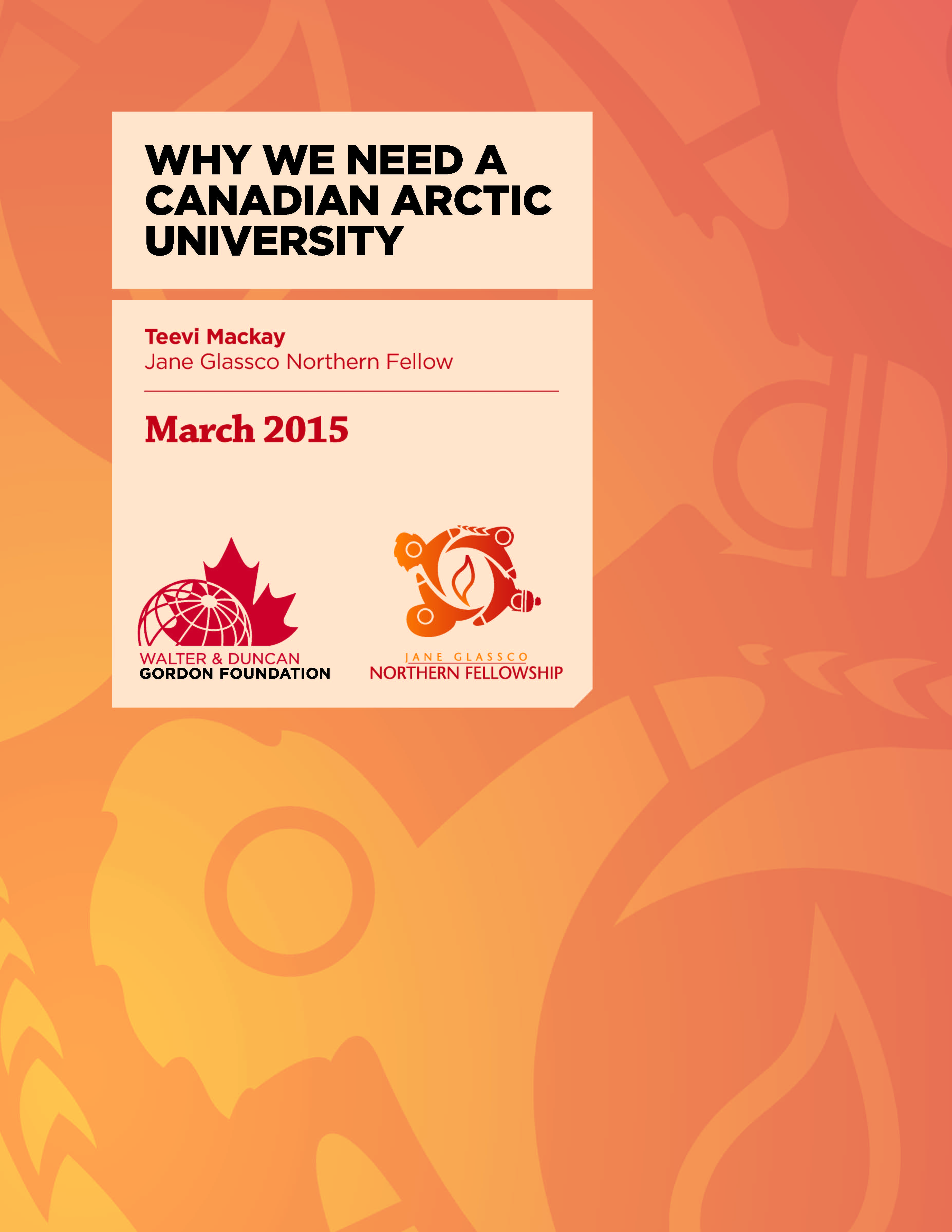 JGNF_2015_Teevi_CanadianArcticUniversity_COVERONLY